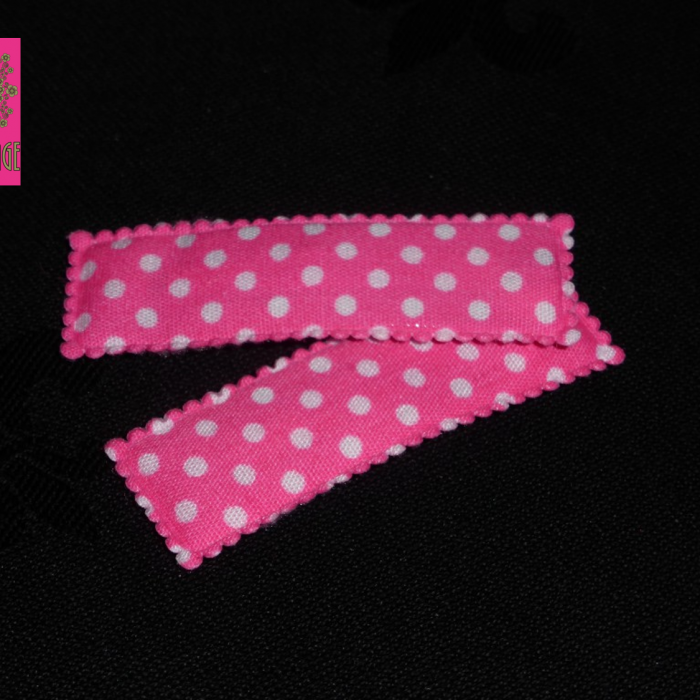 BFF vintage - roze speldjes met witte polkadotjes