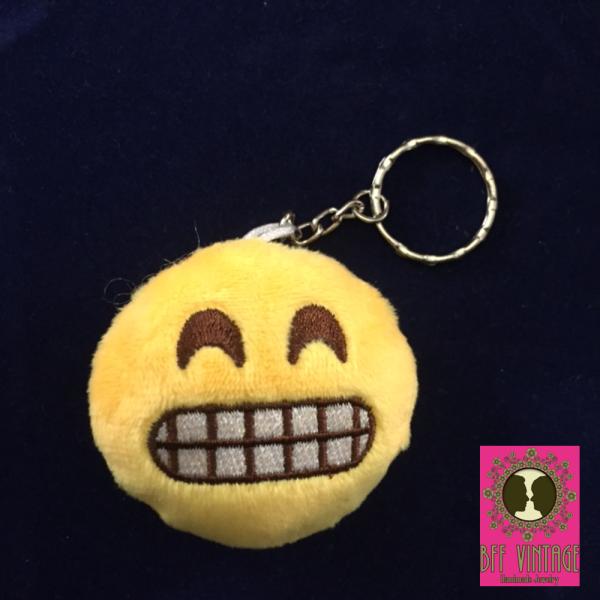 emoji lacht zijn tanden bloot