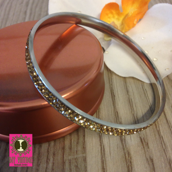 Stainless steel armband champagne